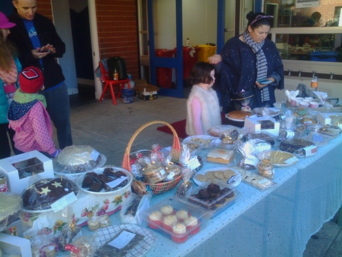 Cake,stall,at,Marmion,fete