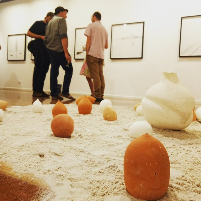 Ceramic art, installation, exhibition opening, hatch contemporary arts Space, Ivanhoe