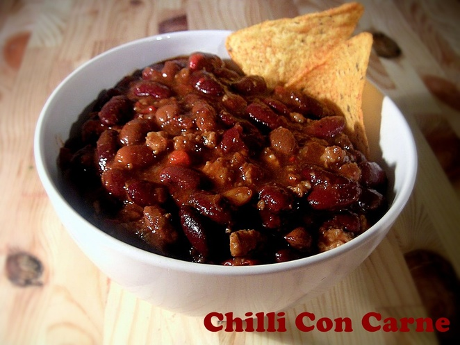 chilli con carne, recipe, kidney beans, recipes, canned food, tinned food, By Carstor - Own work, CC BY-SA 2.5,https://commons.wikimedia.org/w/index.php?curid=338876, wikapedia, dinner, lunch, mexican food, mexican, south america, recipes with beans,