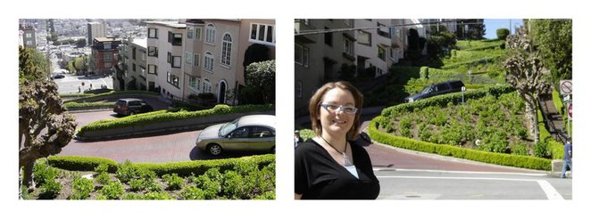 crookedest street, lombard street, self, SFO
