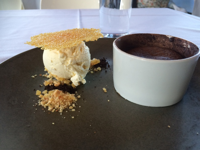delfina's, bistro, fortitude, valley, dining, dessert, chocolate