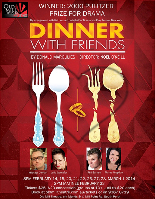 Dinner With Friends, Old Mill Theatre, Noel O'Neill