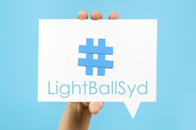 #LightBallSyd is the hashtag to follow for updates.