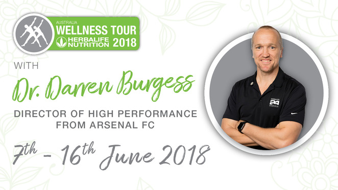 herbalife nutrition wellness tour 2018, herballife tour perth, health and fitness, dr darren burgess, arsenal football club, nutrition program, diet and exercise, parmelia hilton, community event, fun things to do, education, food journey