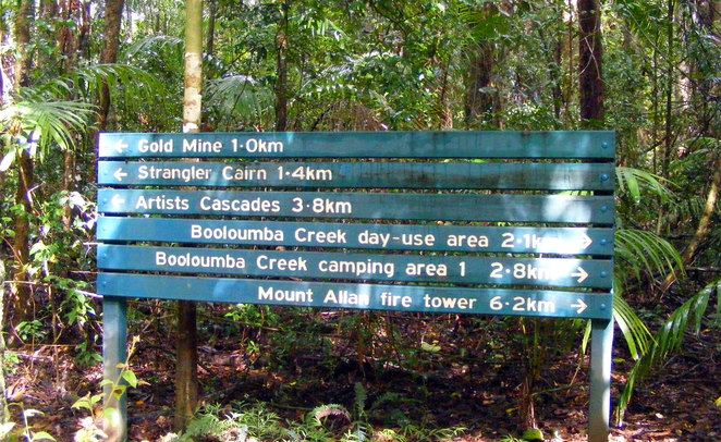 Booloumba Creek Campground is a good base for a range of short and long hikes