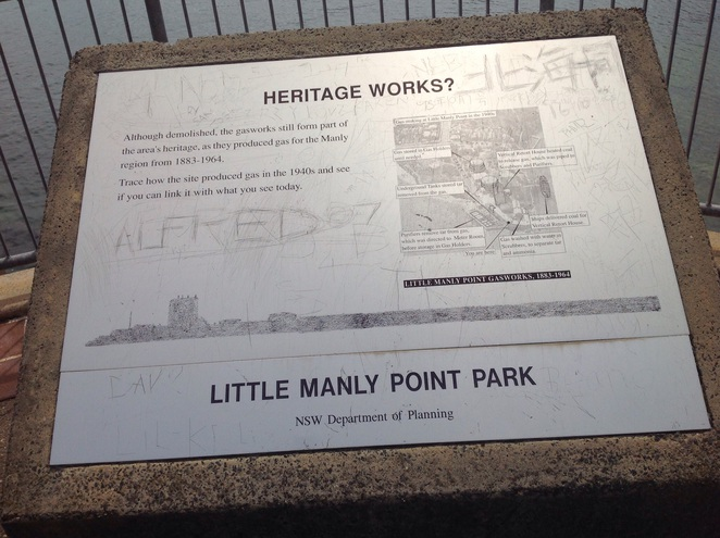 History displayed about Manly Gas Works