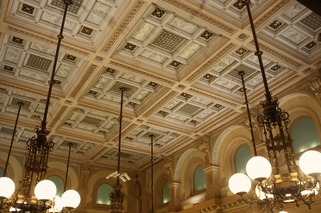 Ornate celling, Lower House. Parliament House South Australia – Photo Jenny Esots