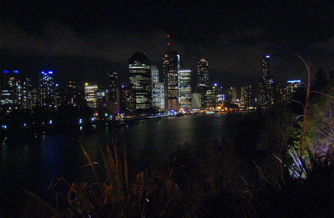 Night view from the Kangaroo Point cliffs