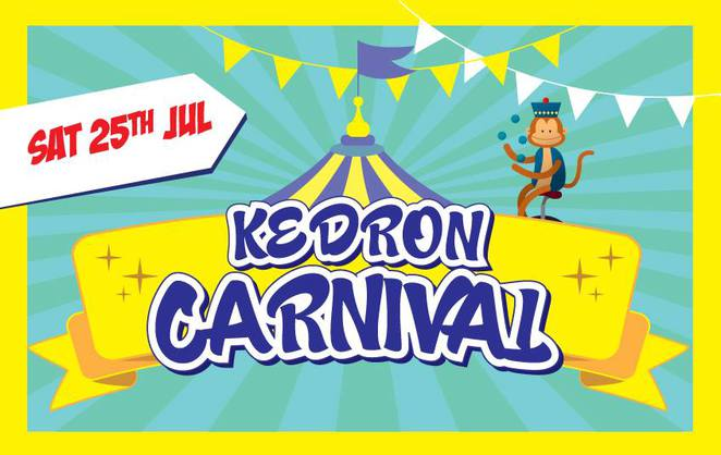 kedron carnival, fete, fair, entertainment, child friendly, rides, food, stalls