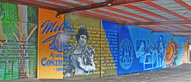 Murals at showgrounds.