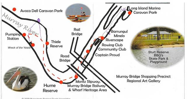murray bridge canoe trails