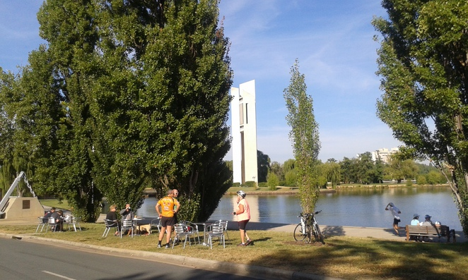 national carillon, lake burley griffin cycling loop, central loop, walking paths canberra, canberra, ACT