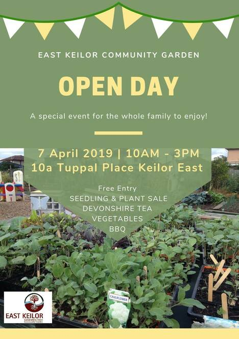 open day 2019, east keilor community garden, community event, fun things to do, free entry, seedling and plant sale, garden lovers, green thumbs, devonshire tea, vegetables, bbq, community event, fun things to do, east keilor sustainability street community garden inc,