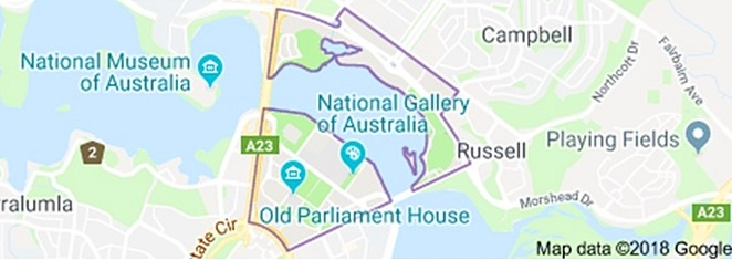 parkes, canberra, parliamentray triangle, google maps, ACT,suburbs of canberra, national gallery, national portrait gallery, parliament house, museum of australian democracy,