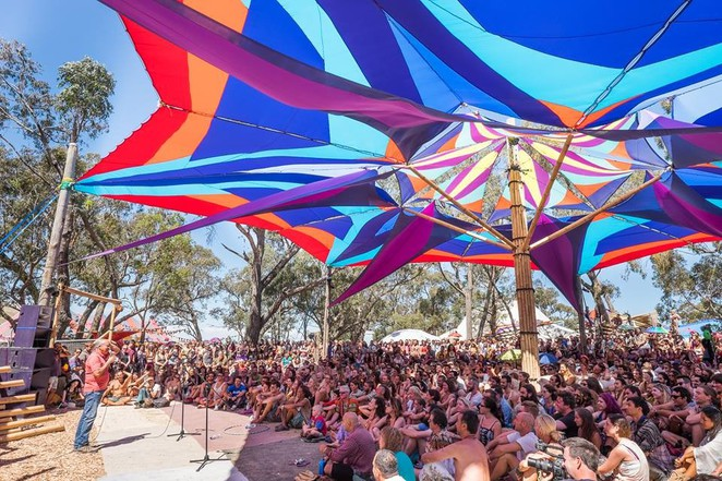Rainbow serpent festival, music festival, electronic music, lexton, shade sails, musicians,