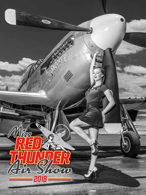 Red Thunder Airshow 2018, 1950's Pinups and Hot Rods, pilot, aviation enthusiast, weekend of family fun, vintage military aircraft, warbirds, jets, helicopters, aerobatic displays, skydiving, live rockabilly bands, tasty food, aerial action, The Russian Roulettes, military re-enactors, Pinup Parade, Miss Red Thunder, joy flights, Thunder Park, rides and activities for children, Thunder Club VIP, camping at Watts Bridge Memorial Airfield, flying in with your own plane