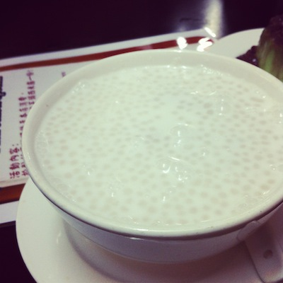 Sago in Coconut Milk with Taro