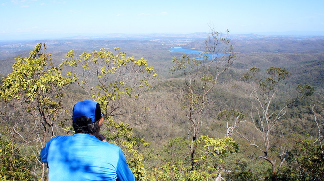 Enjoying the view from the view of the secret lookout on Mermaid Mountain