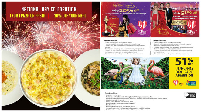 SG51, NDP2016, NDP51, Singapore National Day, mad for Garlic, Madame Tussauds, Jurong bird park, NDP2016 coupon, NDP2016 voucher