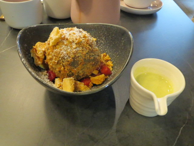 Shibui Dessert Bar, Fried Matcha Ice Cream, Adelaide
