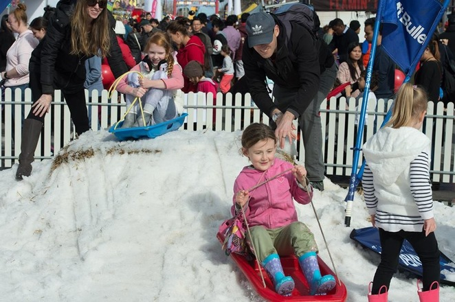Springvale Snow Fest, 2018, Snow, Ice sculpture, fun for kids, snow play, winter, festivals, free, see the snow, sled, snow fest 2017,