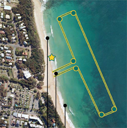 The map of the 2km race/Image from oceanswim.com
