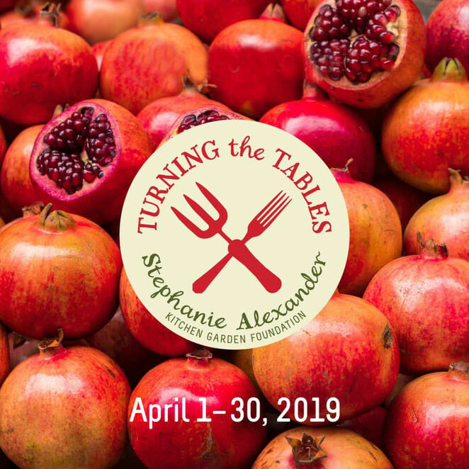turning the tables 2019, stephanie alexander, kitchen garden foundation, charity, fun things to do, community event, donations, fundraiser, garden program for kids, cafes, food retailers, restaurants, food producers, diners, auctions