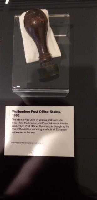 Tweed Regional Museum, Exhibition, Sorted! 150 Years of Tweed Mail, historic Kynnumboon, Joshua Bray, Rosalie Gertrude Bray, first Postmaster and postmistress, history of postal services, display of stamps, telegrams, old telephones, sorting boxes and pictures, Wollumben post Office,