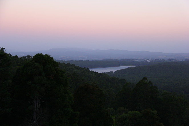 View of Silvan Reservoir from Kalorama.