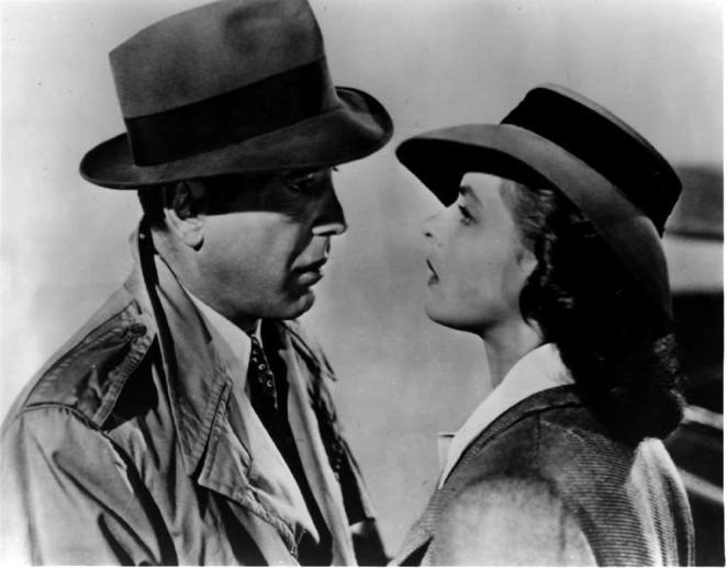 Ingrid Bergman and Humphrey Bogart in Casablanca (1942) from Classic Hollywood Los Angeles Times Facebook page.