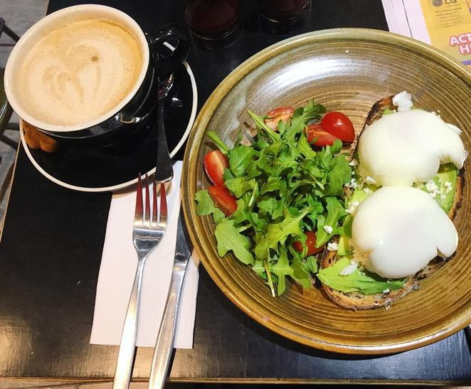 18 Grams, coffee, project, cafe, hurstville, station, soy, chai, latte, avocado, poached egg, feta, breakfast, brunch
