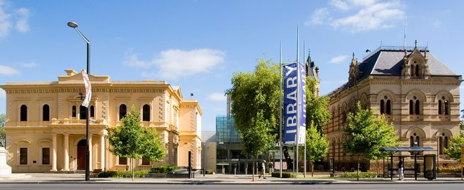 State Library of Adelaide in North Terrace.