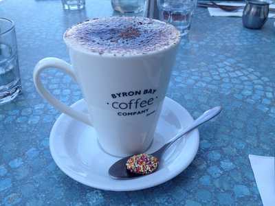A chocolate Freckle with my cappuccino - a nice touch