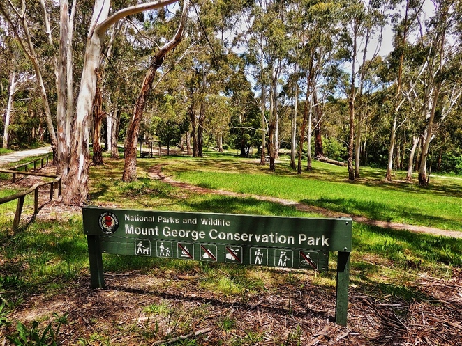 adelaide, park, conservation park, trail, dogs, adelaide hills, creek, free, mount george, entrance