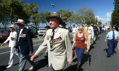 anzac day at surfers rsl