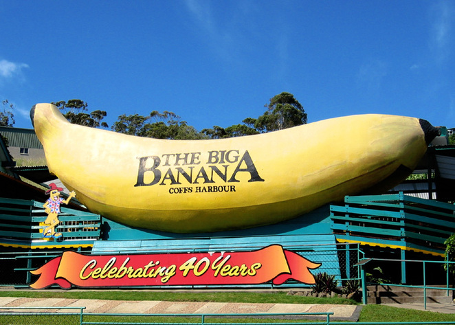 Australian Icons, man made structures, the big banana, tallest man made structures, big structures, Australian tourist icons