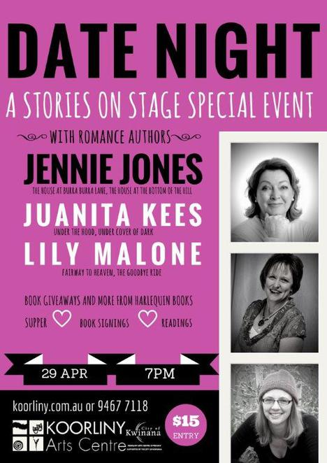 authors, writing, romance, Stories on Stage, Date Night, Koorliny