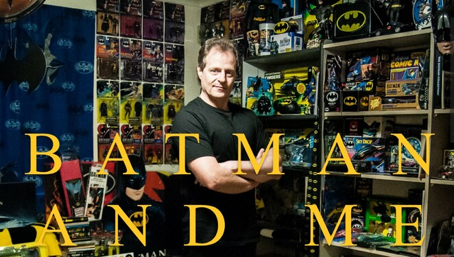 batman and me documentary review, community event, cinema, fun things to do, entertainment, movie review, director michael wayne, obsessive collecting, superhero collections, collectors, hobbies