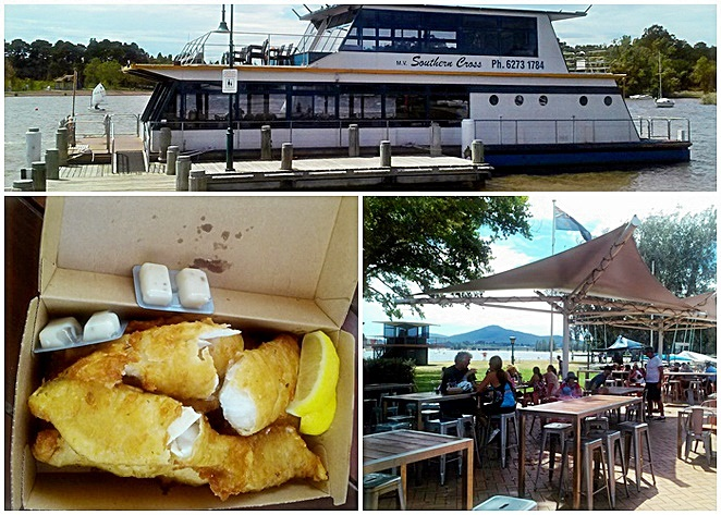 canberra southern cross cruises, snapper fish and chips, yacht club, families, kids, children, ACT, canberra