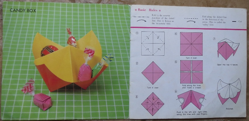 How to Fold an Origami Candy Box | 389x800