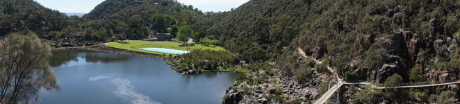 Cataract George, First basin, Tasmania, Launceston, holiday, day hike, hiking, chairlift, family outing, nature, outdoor pool, swimming