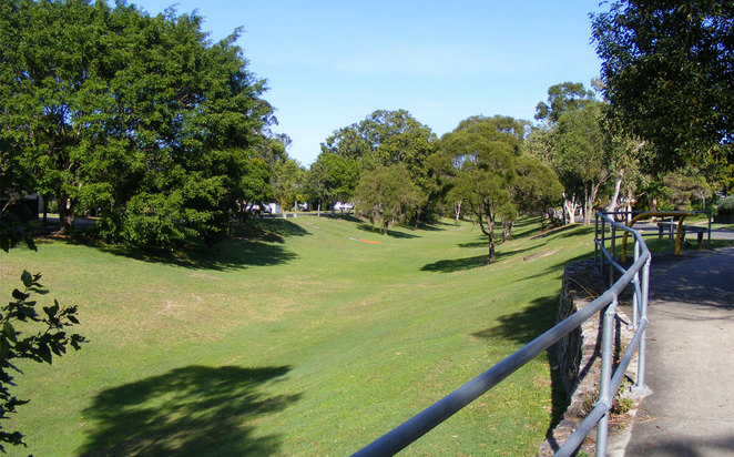Part of the path back to the the Raven Street Reserve