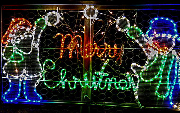 Christmas, Lane, Lights, Display, 2018, Lobethal, sign, merry