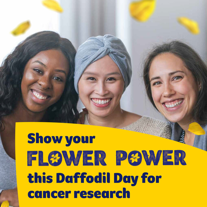 daffodil day, cancer council victoria, fundraiser, charity, community event, fun things to do, fundraise for cancer research, health and wellness, women's health, flower power, baking challenge, qui night, get active, donate, local hero, life saving support