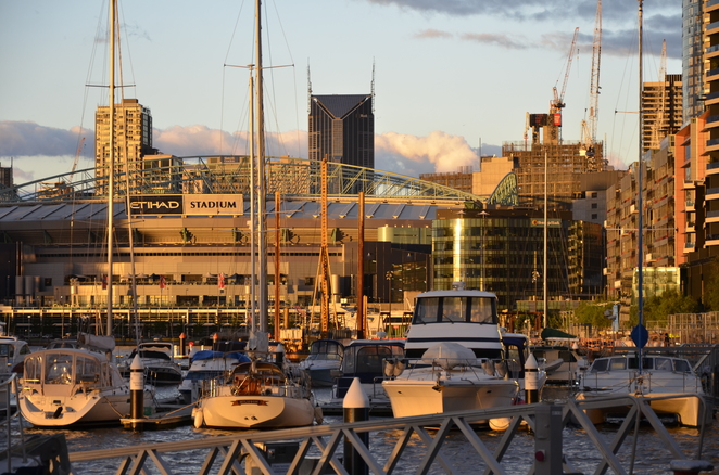 Dockland boats shimmering - Photo Tricia Ziemer