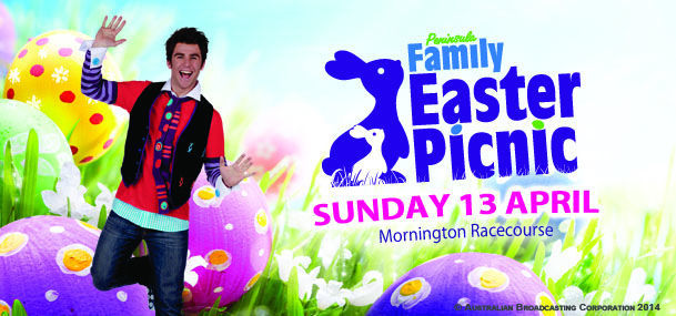 Easter, egg hunt, peninsula, jimmy giggle, cat in the hat, bananas in pyjamas, rides