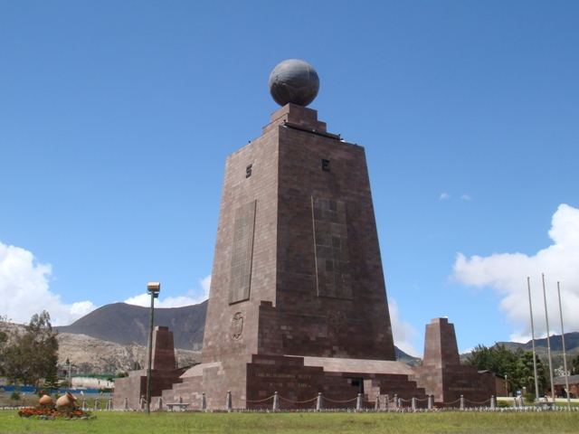 equator monument north of Quito