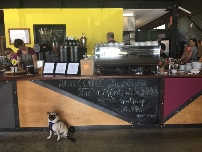 extraction artisan coffee, logan, slacks creek, southern suburbs, brisbane, southside, cafe, espresso bar, coffee, brunch, breakfast, cold drip coffee, cold brew coffee, converted warehouse, dog friendly, street art, coffee beans, cafe culture