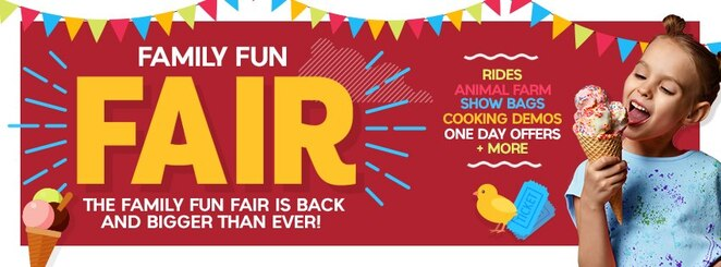 family fun fair 2019, community event, fun things to do, calamvale central shopping centre, rides, side show alley, cooking demos, foodie deals, one day offers, family fun, show bags