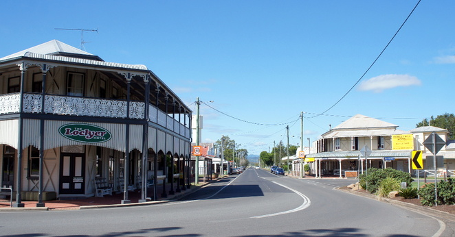 The town of Forest Hill in the Lockyer Valley